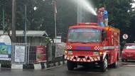 Cegah Corona, Pertamina Semprotkan Disinfektan ke 22 SPBU di Bogor
