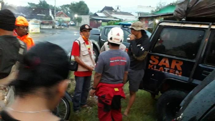 Seorang remaja hilang diduga sengaja lompat ke Bengawan Solo, Klaten, Sabtu (28/3/2020).