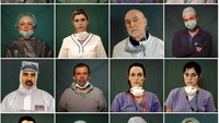 Potret Para Pahlawan Italia di Garis Depan Pandemi Corona