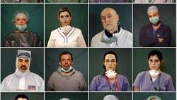 3 fotografer AP merangkum foto-foto para petugas medis Italia yang berjuang di garis depan pandemi Corona. Paras tak kenal lelah mereka terlihat dari balik APD.