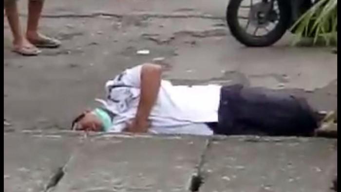 Heboh Satpam Tergeletak di Pinggir Jalan Medan