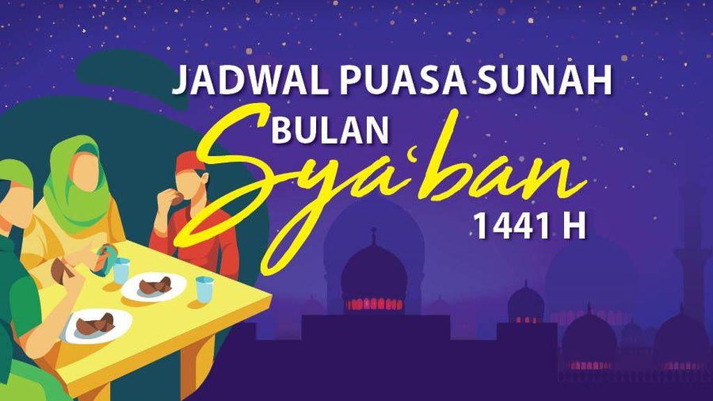 INFOGRAFIS: Jadwal Puasa Bulan Syaban 1441 H