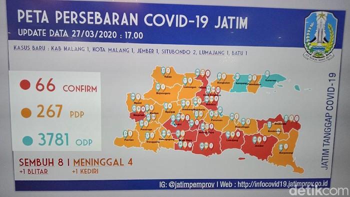 Ini 12 Daerah Di Jatim Yang Masuk Zona Merah Covid 19