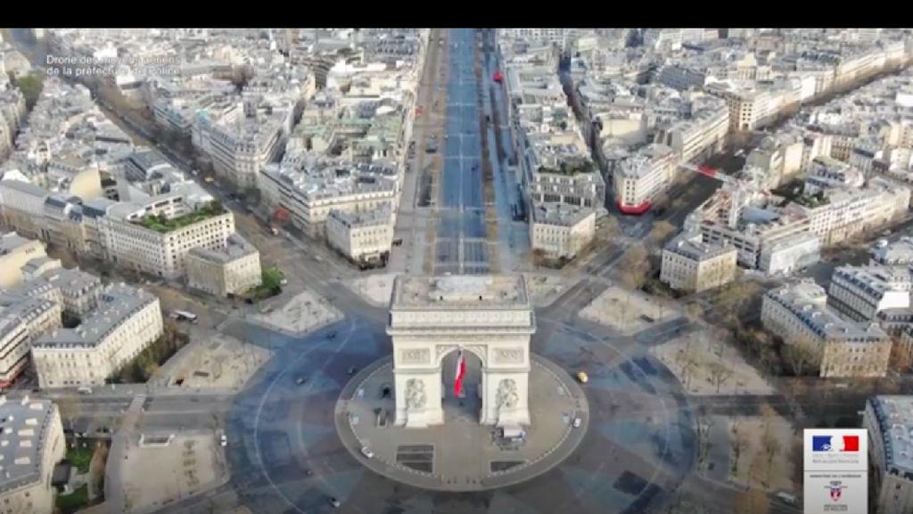 Video Pemandangan Paris dari Udara saat Lockdown karena Corona