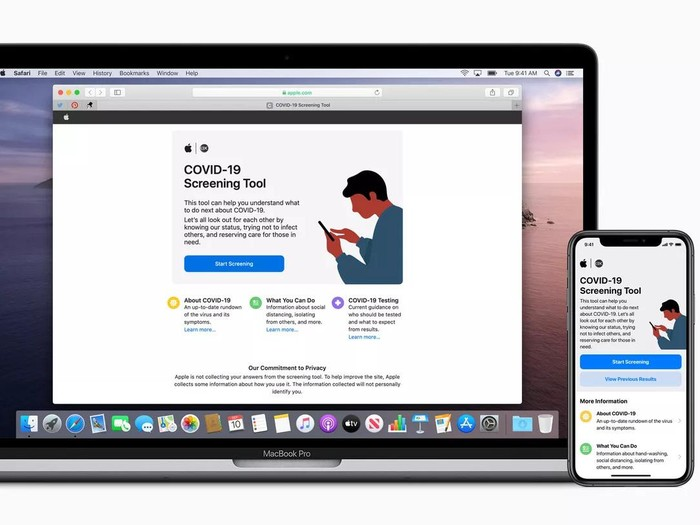 aplikasi Apple untuk screening corona