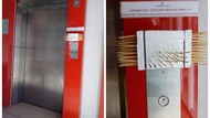 Cegah Corona, Pasar di Cimahi Pakai Tusuk Gigi untuk Pencet Tombol Lift