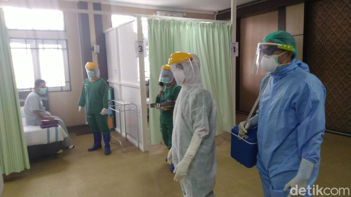 Rumah dinas Wali Kota Semarang disiapkan sebagai tempat isolasi pasien Corona, Minggu (29/3/2020).