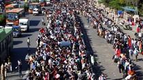 Ribuan Warga India Tinggalkan New Delhi di Tengah Lockdown Corona