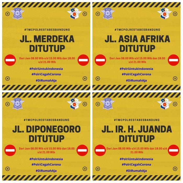 Jalan di Bandung ditutup