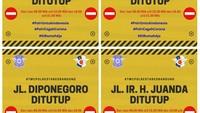 Pandemi Corona, Sejumlah Jalan Protokol di Bandung Ditutup Sementara