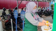 Sarana Cuci Tangan Disediakan BPJS Kesehatan di Tembilahan