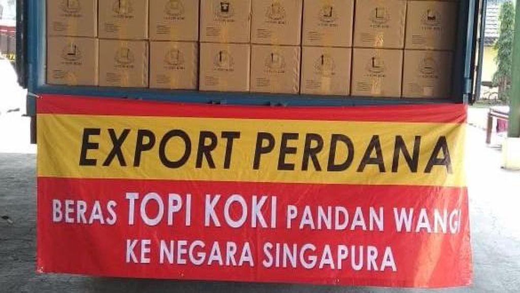 RI Sukses Ekspor 20 Ton Beras ke Singapura di Tengah Corona