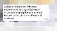 Viral Perawat di Jakarta Diusir dari Kos Akibat Menangani Pasien Corona