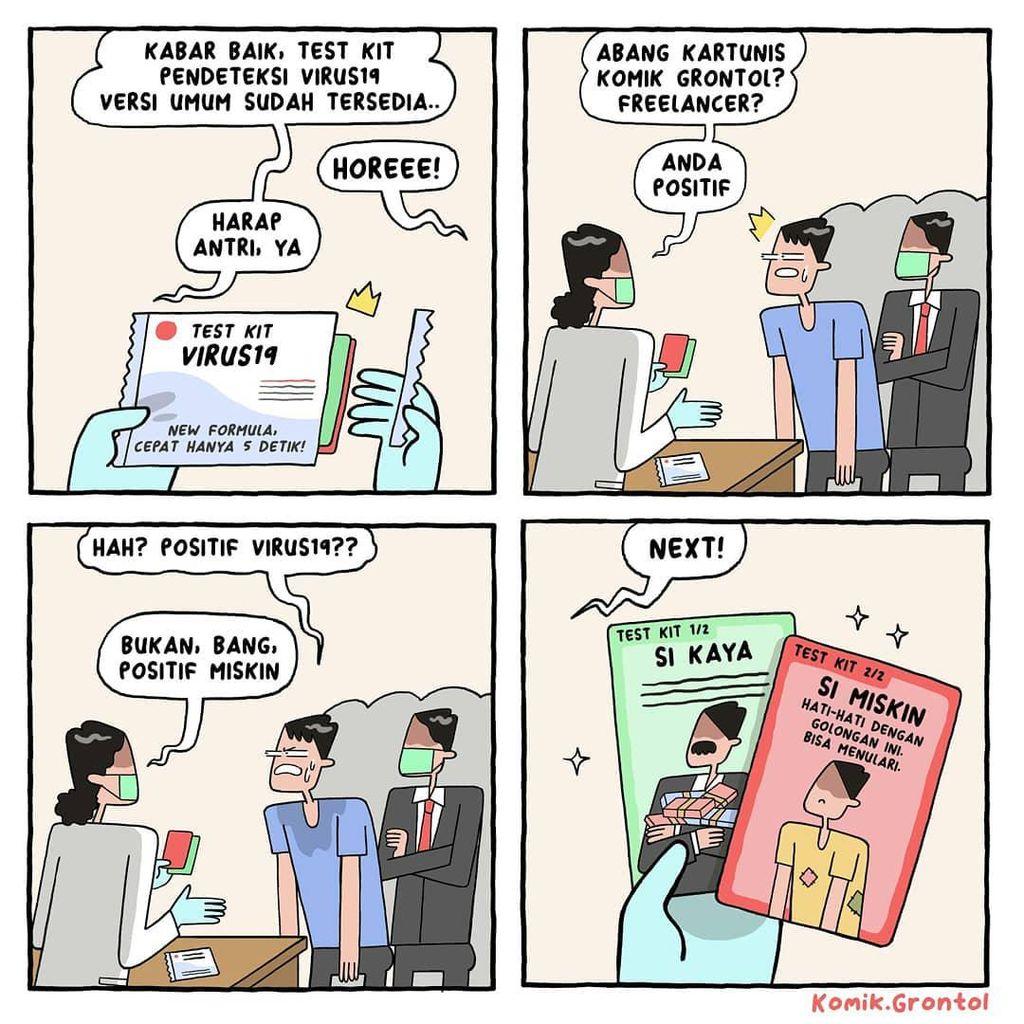 Kelakar Komik Grontol soal Si Kaya vs Si Miskin