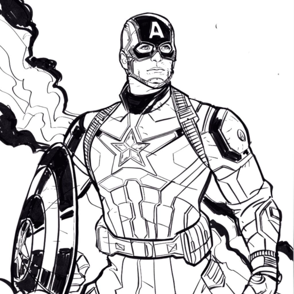 Bosan di Rumah? Komikus Marvel Ajari Cara Menggambar Captain America