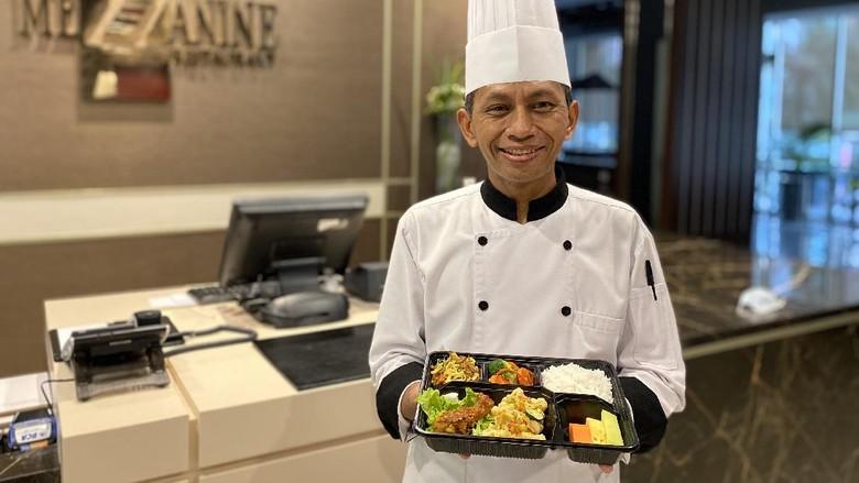Layanan katering di tengah pandemi corona.
