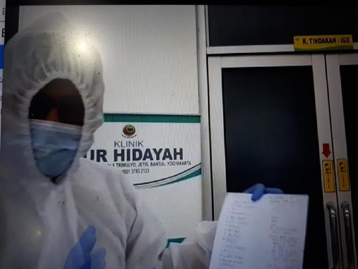 Video dokter curhat 23 rs tolak PDP Corona di Bantul, Senin (30/3/2020).