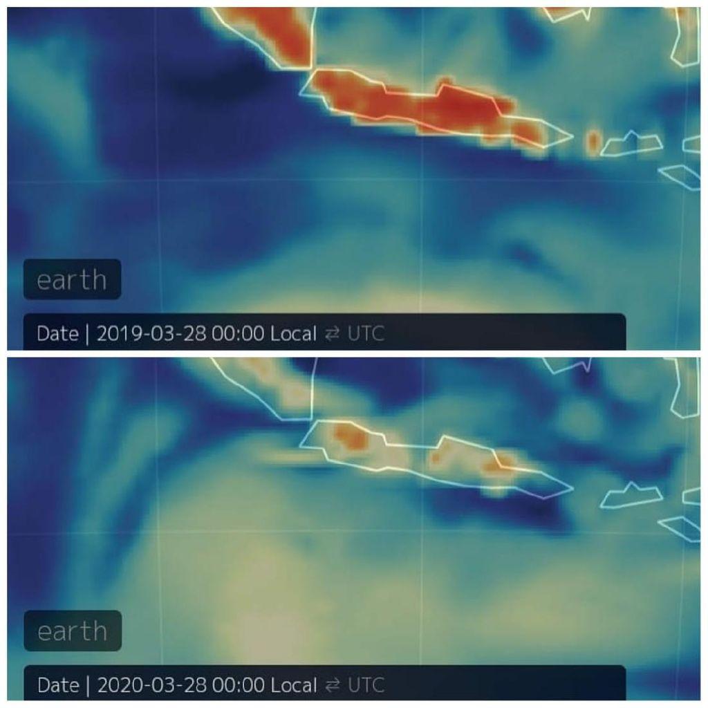 Wabah Virus Corona Bikin Kualitas Udara RI Bersih