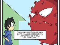 Rupa Rupa Gambar Virus Corona Karya Seniman Indonesia