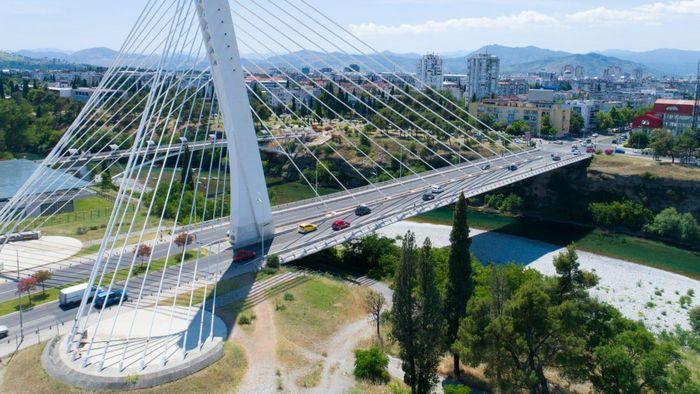 Kota Podgorica dan Cetinje di Montenegro
