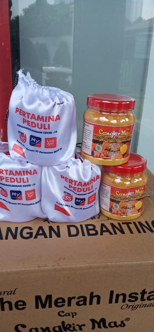 Cegah Corona, 3.460 Petugas SPBU Minum Jahe Merah Instan Produk UMKM