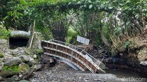 Jembatan Wisata Blue Lagoon Sleman Ambrol, Kerugian Sampai Rp 350 Juta