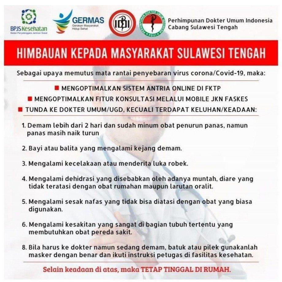 Tunda ke Dokter, Warga Sulawesi Tengah Diimbau Optimalkan Mobile JKN
