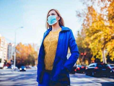 Ilustrasi masker.