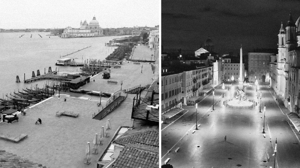 Melihat Sepinya Italia Bak Kota Mati Pasca Lockdown dari CCTV