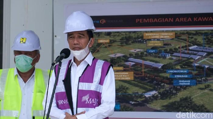 Presiden Jokowi Tinjau RS Corona di Pulau Galang, Kepri