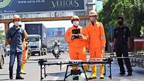 Pakai Drone, Pemkot Bekasi Semprot Disinfektan ke Stadion-Jalan Protokol