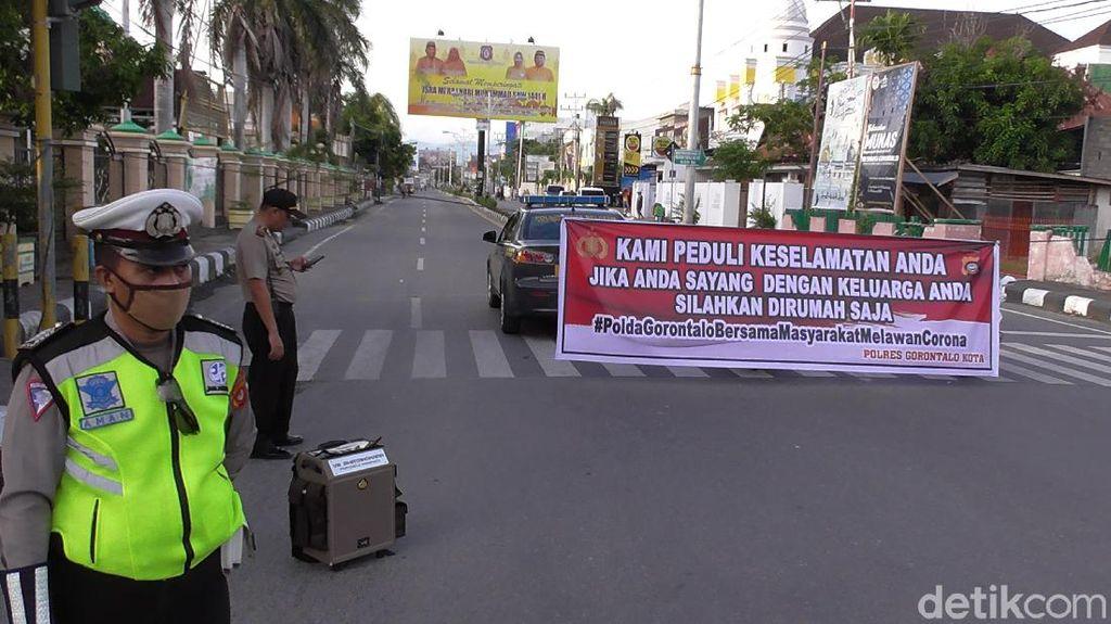 Cegah Corona, Ruas Jalan Utama di Gorontalo Ditutup Sore dan Malam