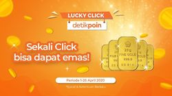Ikut Lucky Click detikpoin Redeem 10 Poin Bisa Bawa Pulang Emas 25 Gram!
