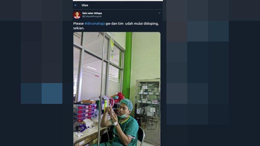 Viral Perawat di Bogor Tengah Diinfus, Kelelahan Tangani Wabah Corona