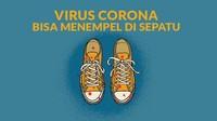 Virus Corona Bisa Nempel di Sepatu, Begini Cara Membersihkannya