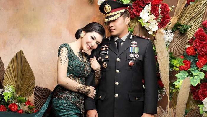 Rica Andriani menikah dengan kapolsek kembangan kompol Fahrul