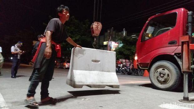 Blokade Beton Dibongkar, 5 Ruas Jalan Kota Tegal Dibuka Malam Ini