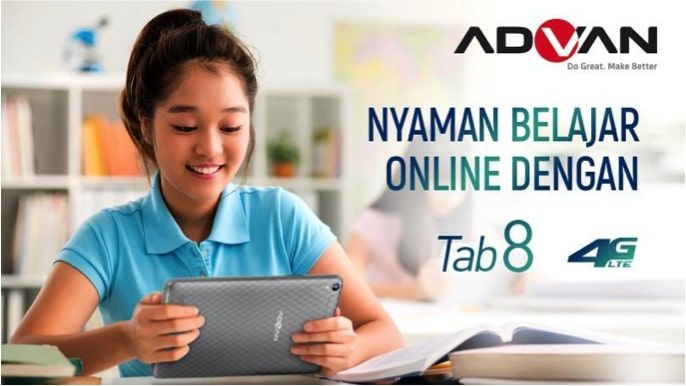 ADVAN TAB 8 Layar dan Audio Terbaik untuk Home Learning
