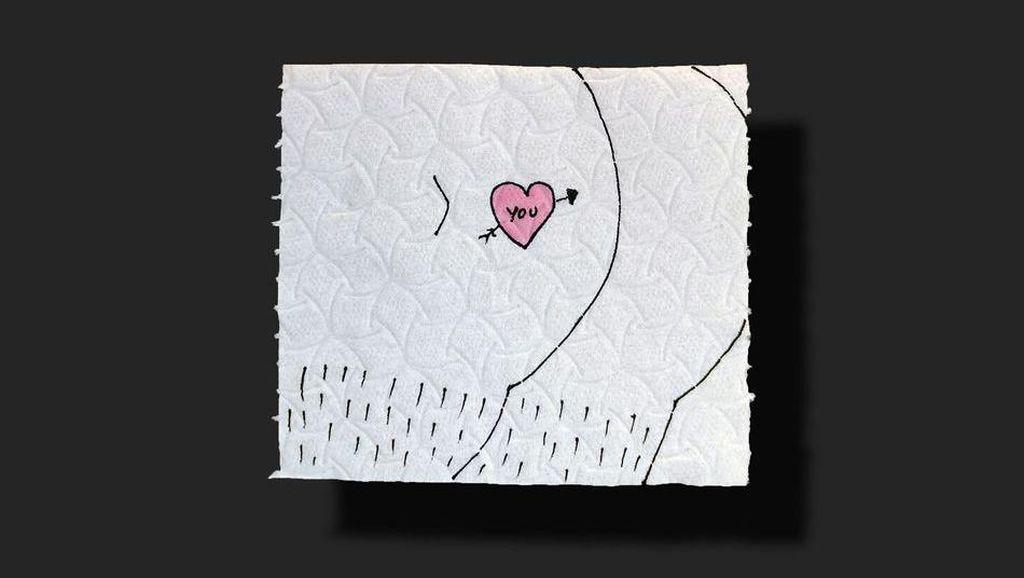 Kreatif! Tisu Toilet Jadi Karya Seni Untuk Bantu Korban Corona