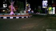 Lengangnya di Kota Pekalongan saat Jam Malam Mulai Diterapkan