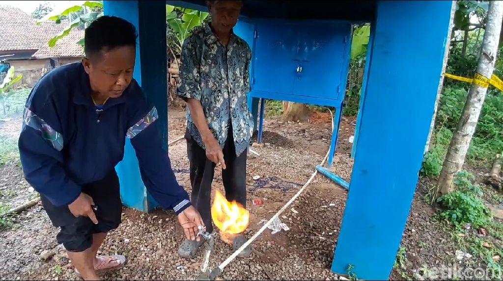 Sumur Bor di Sumedang Mengeluarkan Gas, Warga Sekitar Was-was