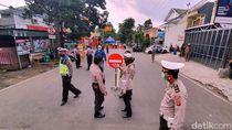 Akses Jalan Menuju Setukpa Polri Sukabumi Dialihkan