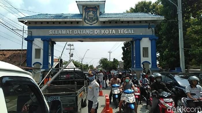 Isolasi wilayah Kota Tegal, Jumat (3/4/2020).