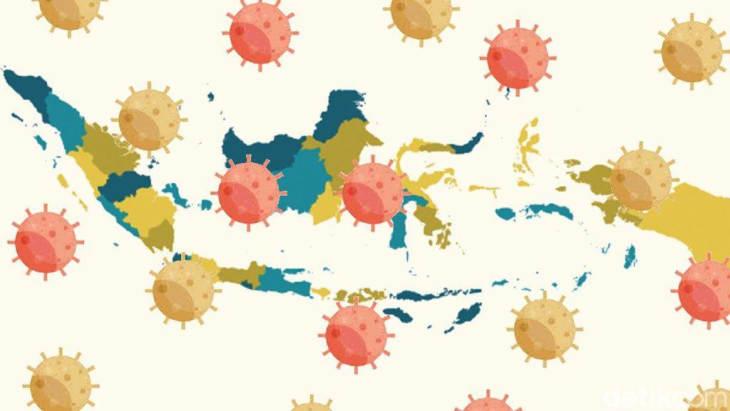 Berikut Sebaran 123.503 Kasus Positif Corona di Indonesia