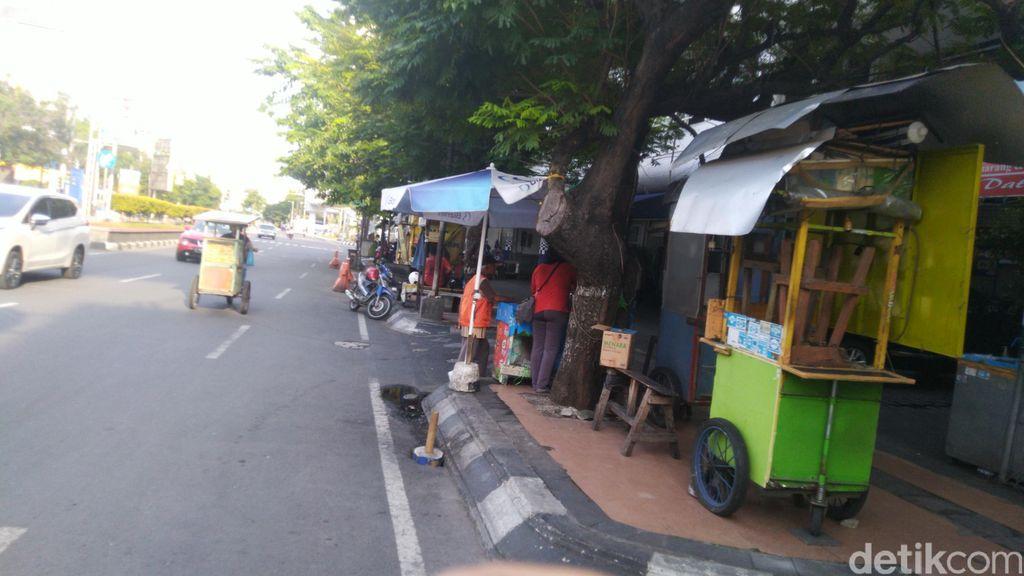 Usaha kuliner di Semarang saat jalan ditutup