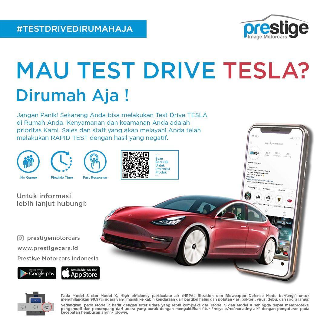 Test Drive Tesla ala Prestige