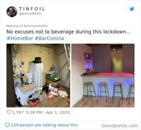 Meski pandemi Corona melanda, beberapa warga di dunia tetap bisa beraktivitas di rumah loh. Hasilnya lucu dan unik. Nggak percaya? Initp aja nih.