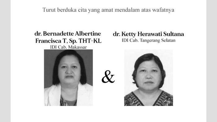 Dokter anggota IDI yang meninggal terkait corona.