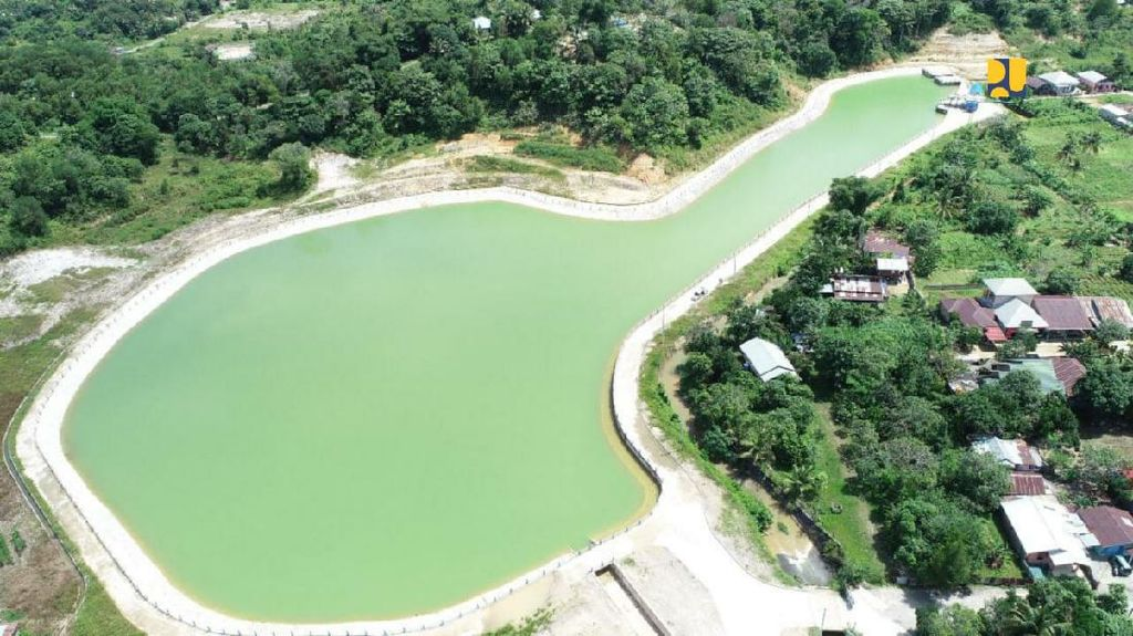 Penampung Air Raksasa di Kaltara Kelar Dibangun