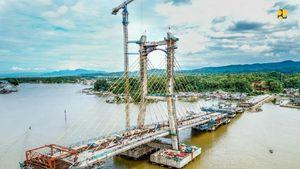 Melihat Pembangunan Jembatan Megah di Teluk Kendari
